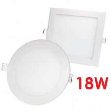 18W RECESSED LED PANELS ROUND AND SQUARE
